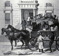 Moving scene, Montreal, 1st May, frontpage of L'Opinion publique, Montreal, vol. VII, no 20, 1876, 18 mai, p. 1. by Henri Julien - Wikimedia Comons
